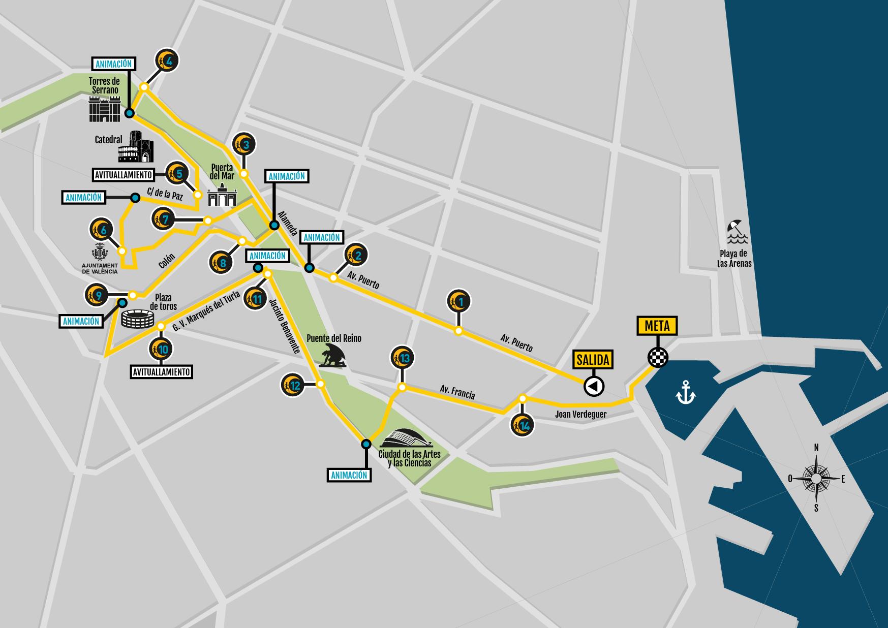 Circuito Urbano Valencia : Un circuito urbano y nocturno guiado por la luna de valencia
