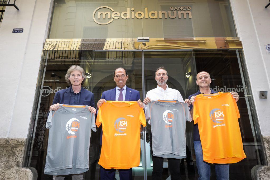 Camiseta oficial 2017 15K Nocturna Valencia Banco Mediolanum